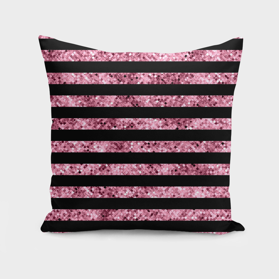 Black and Pink Sequin Stripes