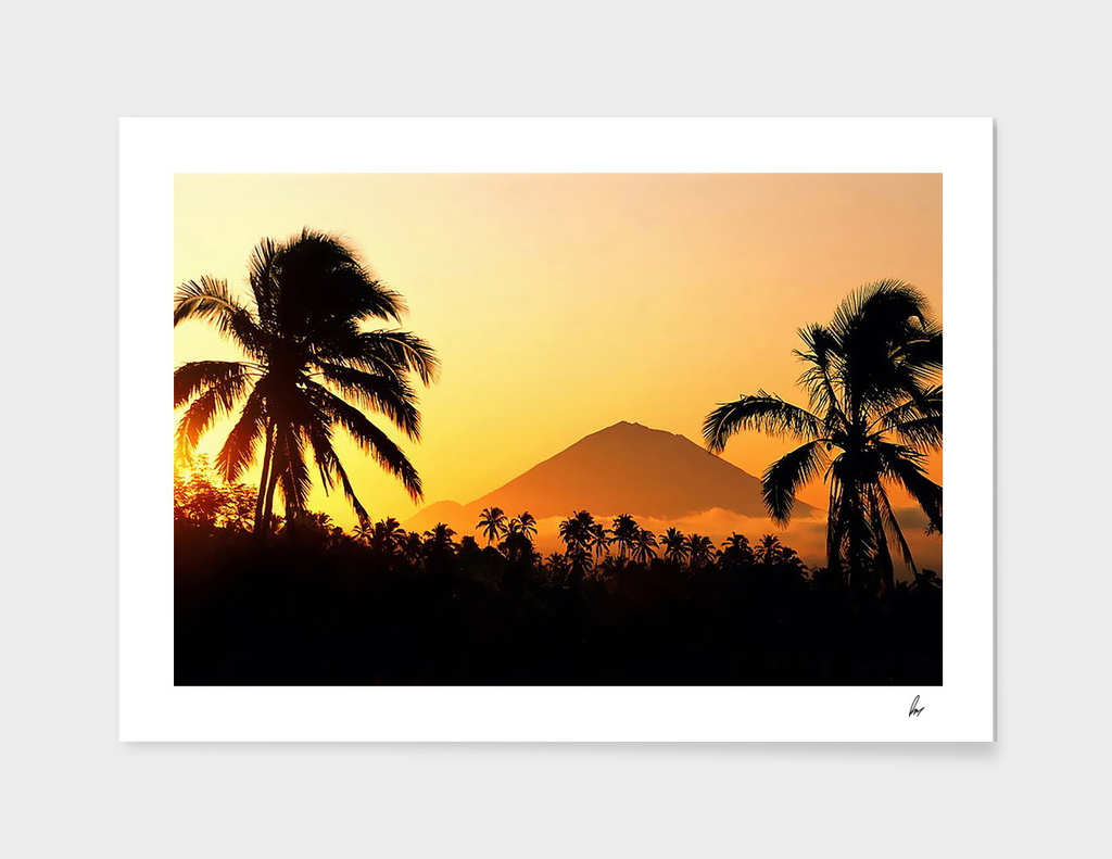 Bali Indonesia Gunung Agung Sunset