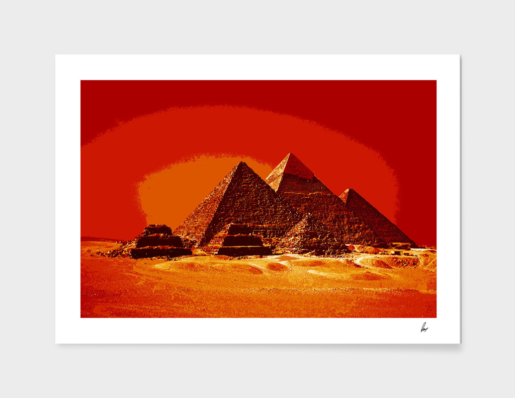 Giza Necropolis Red Orange