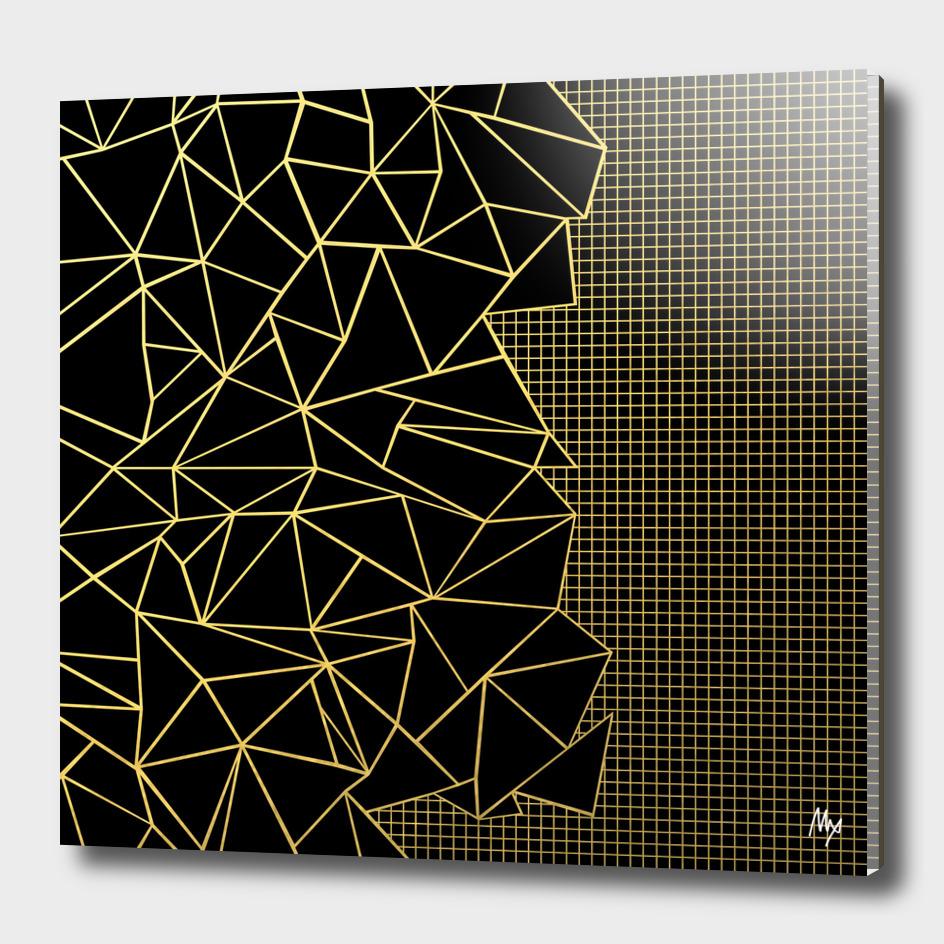 Ab Outline Grid on Side Black and Gold