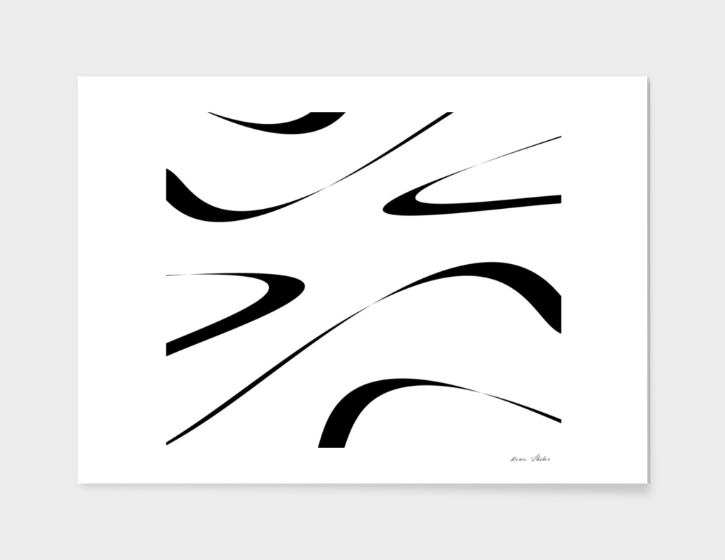 Abstract - black  and white.