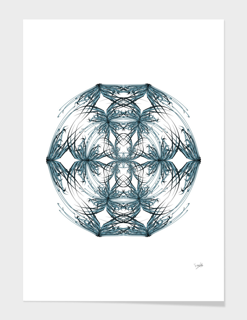 Mandala blue and white