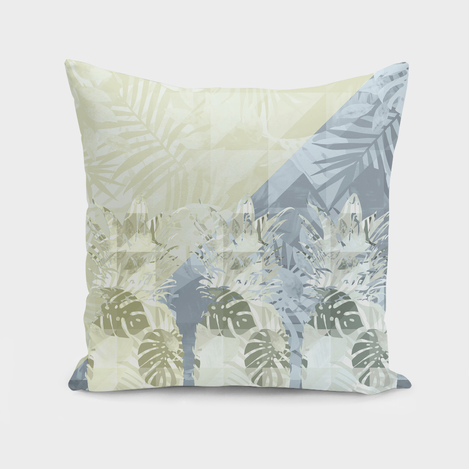Elegant Geometric Pineapples Tropical Pattern