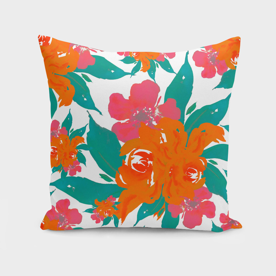 """Vivid Colors Tropical Classic Floral"""
