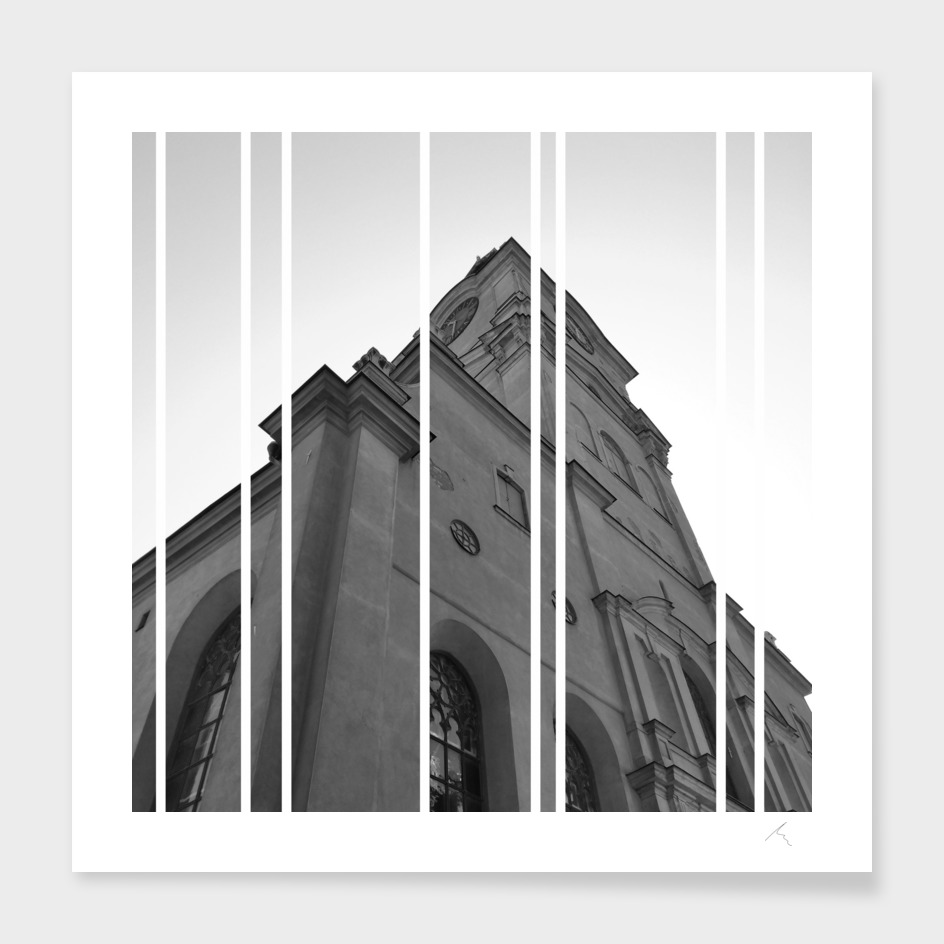 Cathedral in Stripped B&W