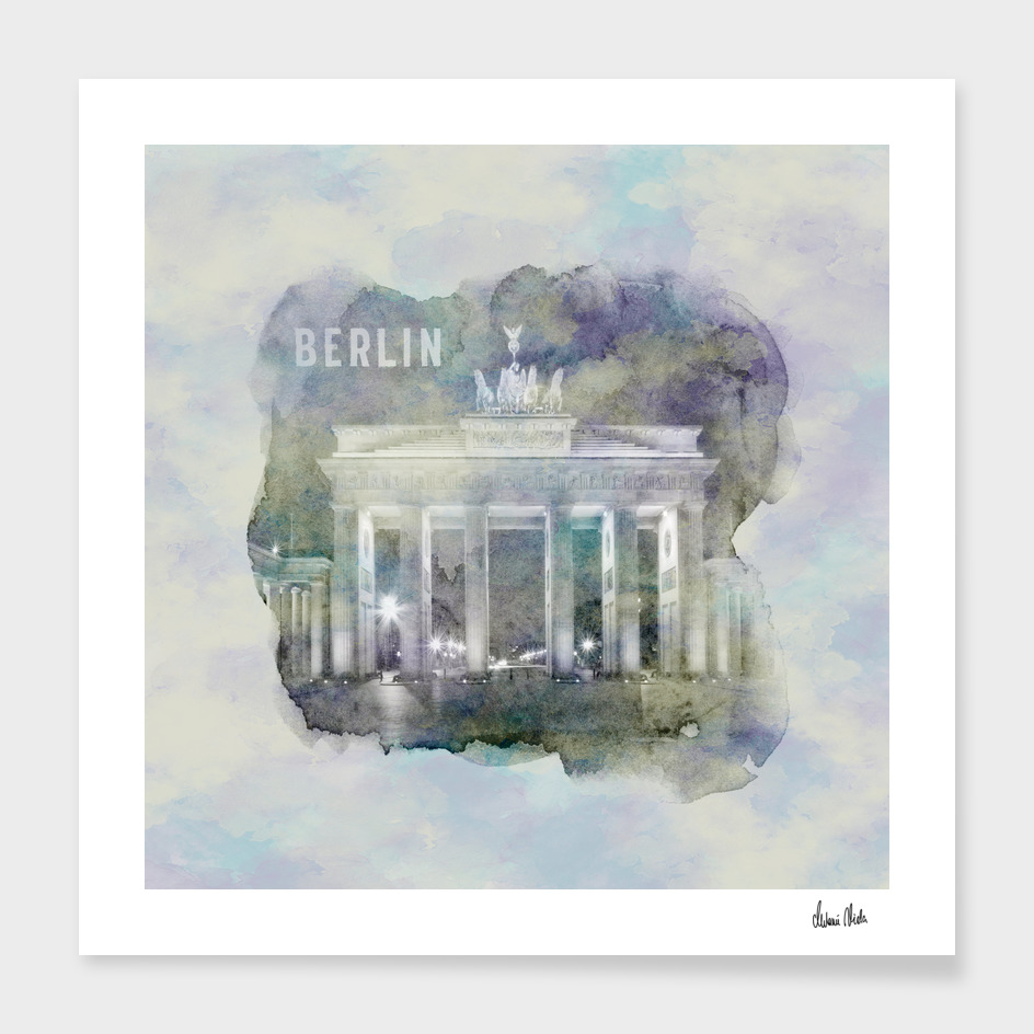 BERLIN Brandenburg Gate   watercolor