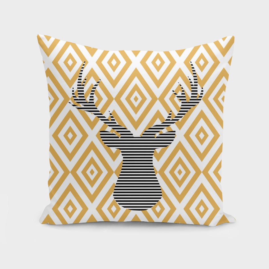 Deer - geometric pattern - bronze.
