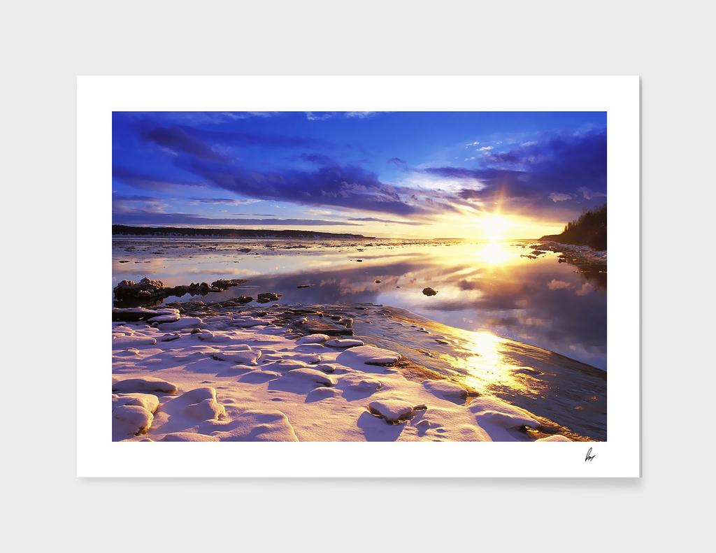 Alaska Lake Sunset