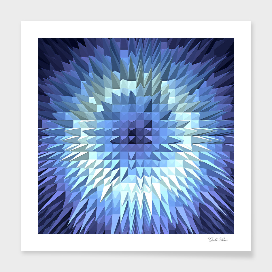 Abstract geometric low poly gradient design