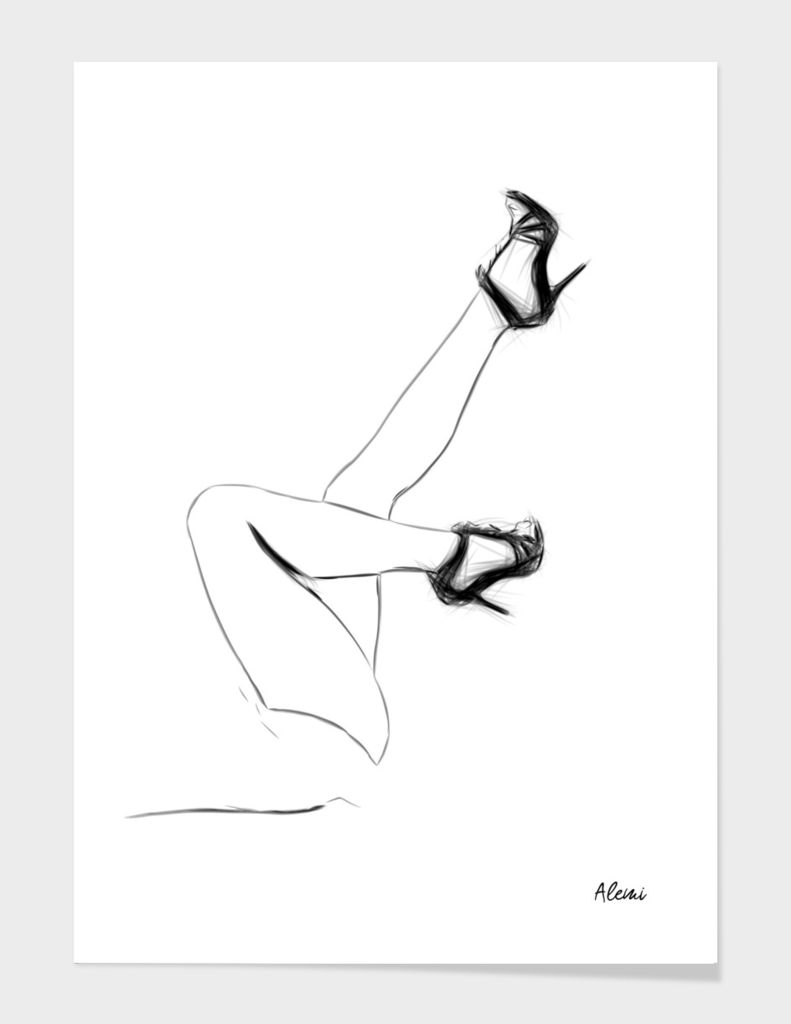 Legs Drawing Minimal Illustration