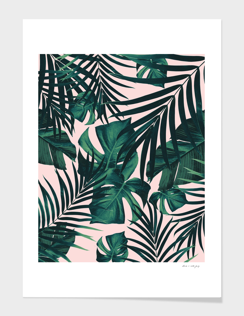 Tropical Jungle Leaves Pattern #5