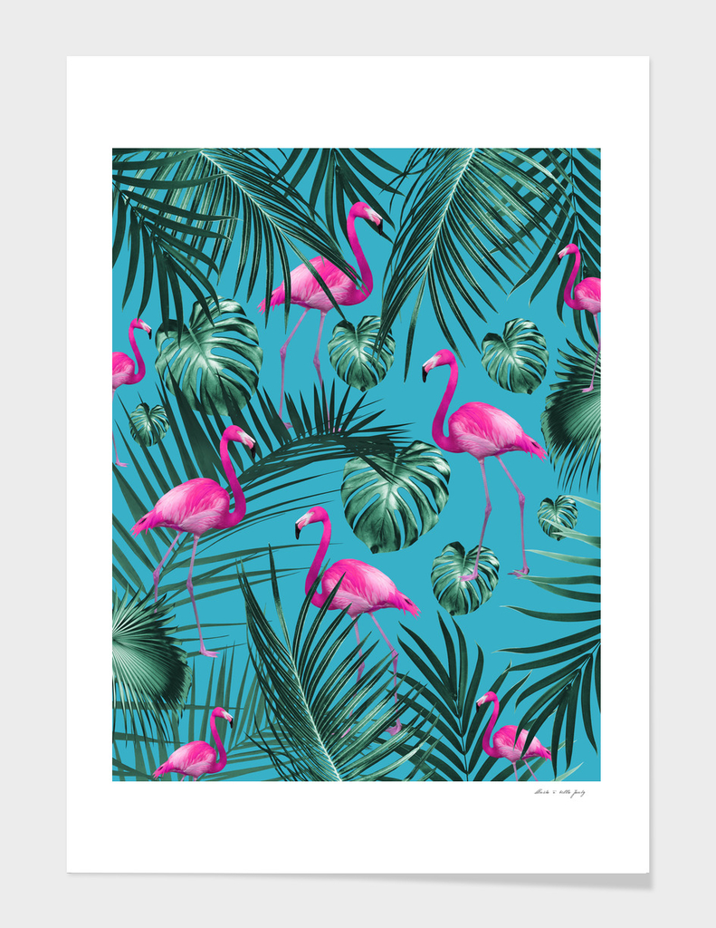 Tropical Flamingo Pattern #4