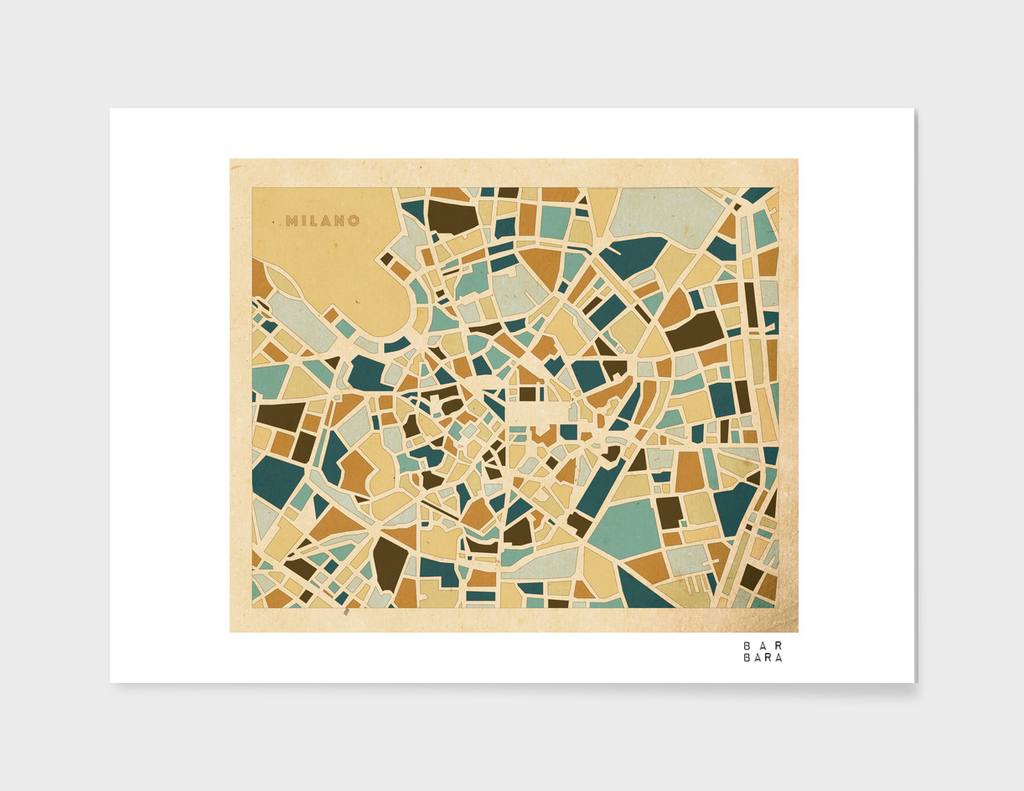 Map of Milano - Italy