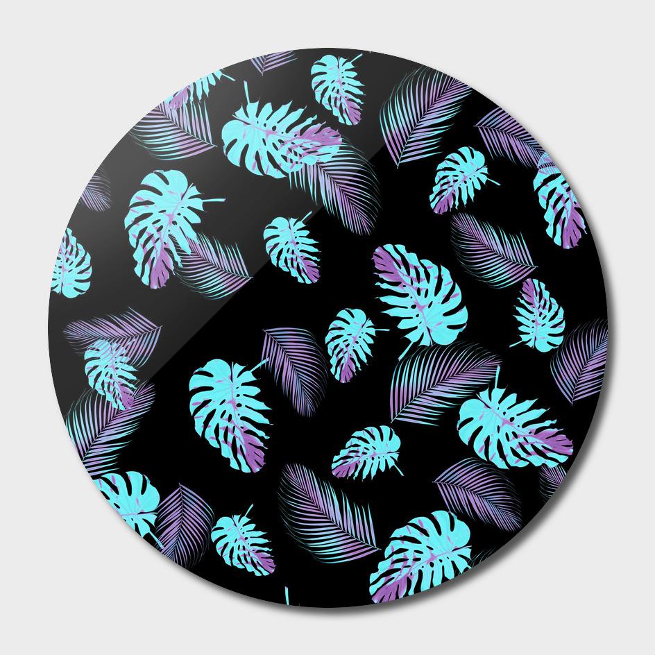 Tropical Monstera Palm Pattern #2