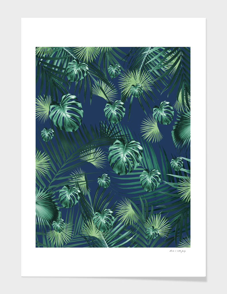 Tropical Jungle Night Leaves Garden #2