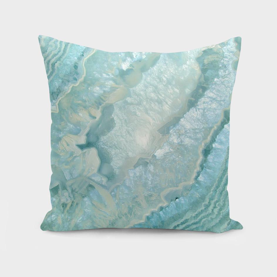 Aquamarine Pastel and Teal Agate Crystal