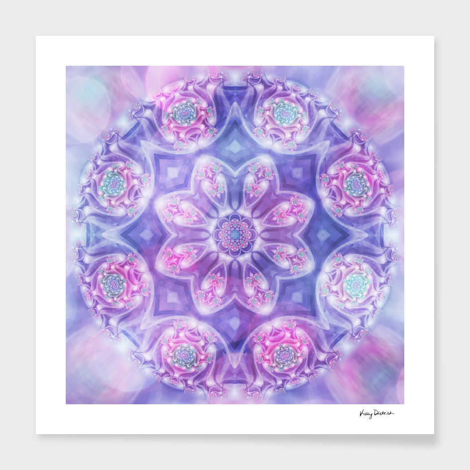 Daydream Mandala in Purple, Blue and Pink