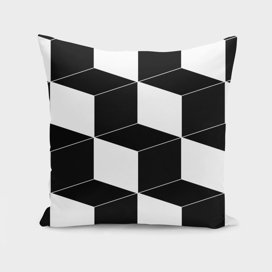 Abstract geometric - black and white.
