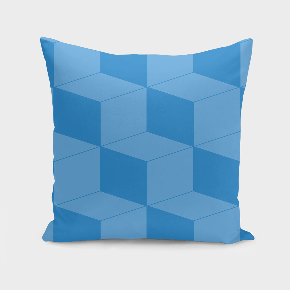 Abstract geometric pattern - blue.