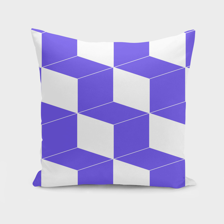 Abstract geometric pattern - blue and white.