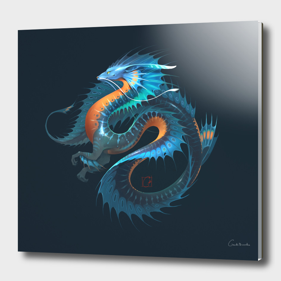 Blue water dragon 2.0 by GaudiBuendia