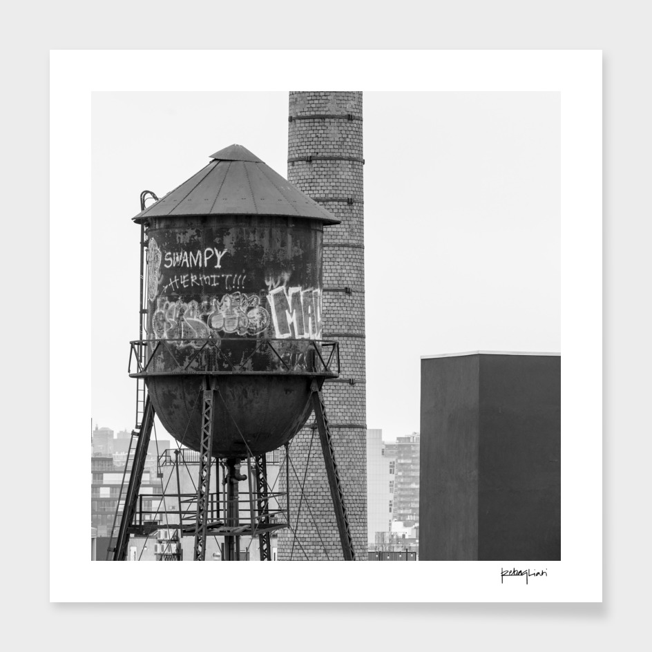 Water tower in Brooklyn