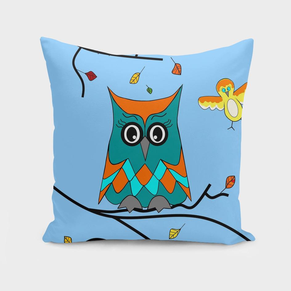 Owl And Birds