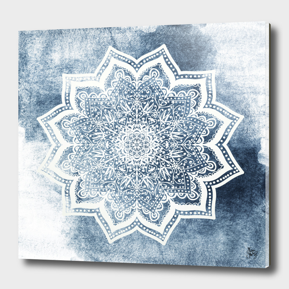 BLUEISH SEA FLOWER MANDALA