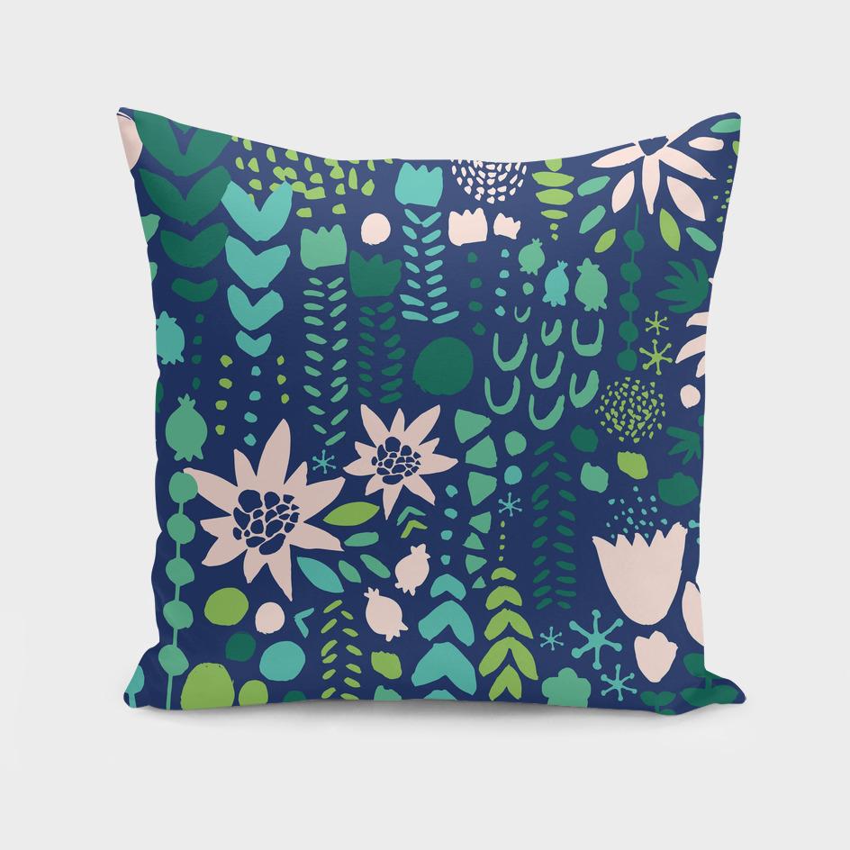 flowers pattern - dark