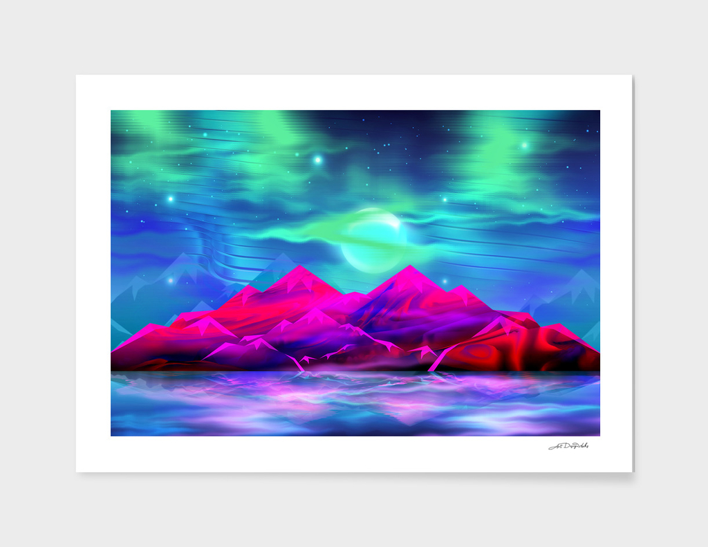 Artistic - XXIX - Mountain Aurora / NE