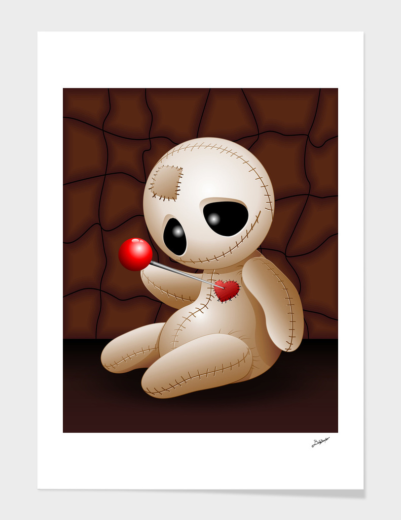 Voodoo Doll Cartoon in Love