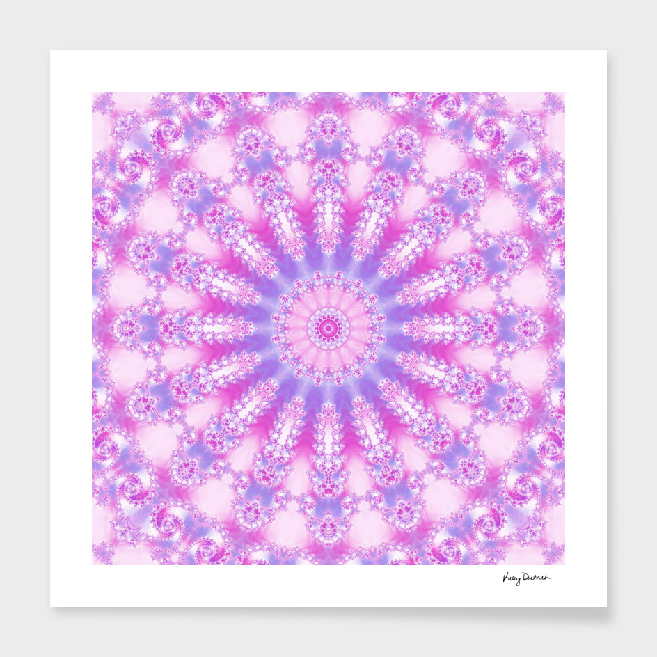 Pale Pink Magenta and Purple Mandala