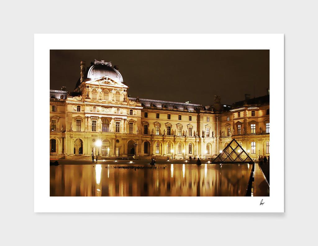 Louvre Paris Glow