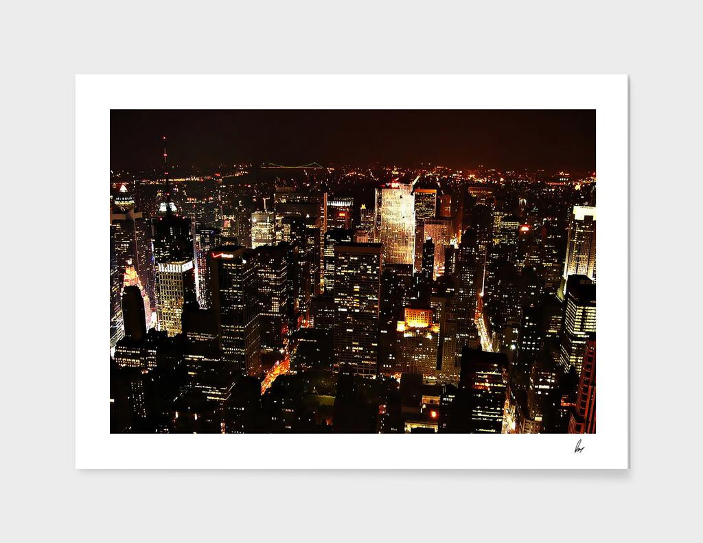New York City Golden Lights
