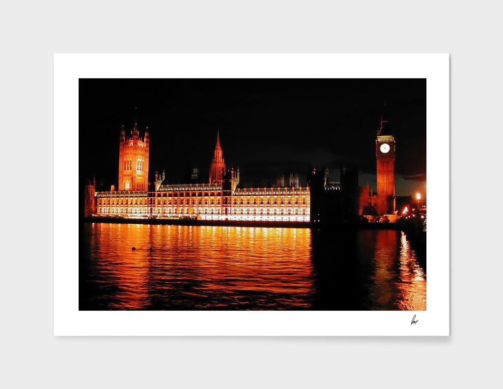 London Houses Of Parliament Thames