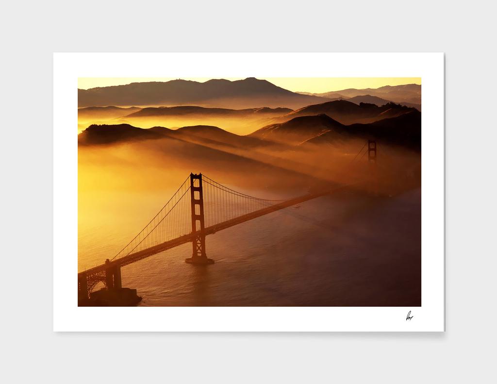 San Francisco Golden Gate Bridge Mist
