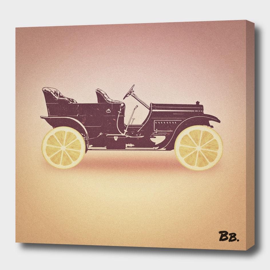 Oldtimer / Historic Car with lemon wheels