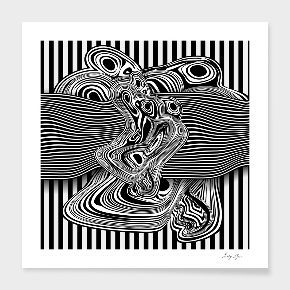 Black white abstract composition №795