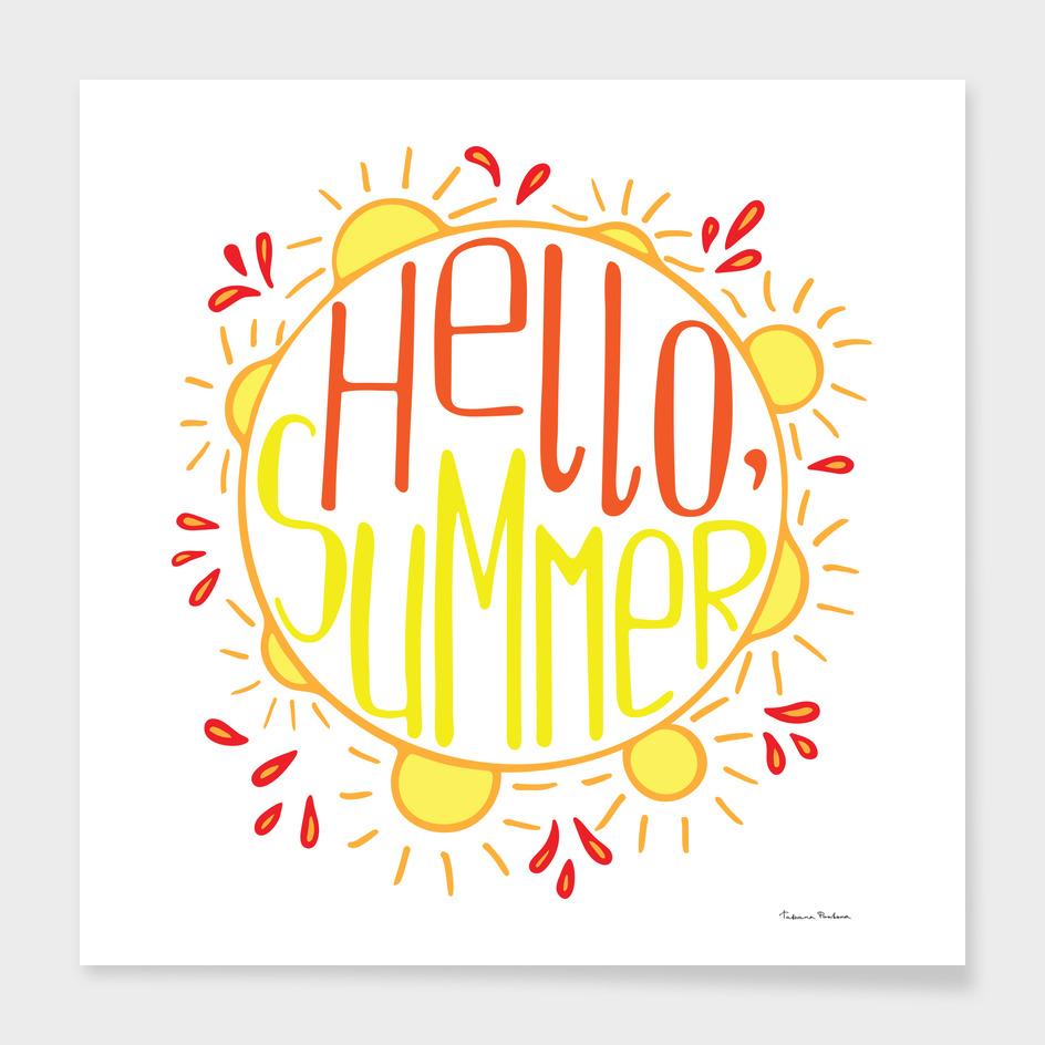 Unique hand-drawn lettering for the Summer
