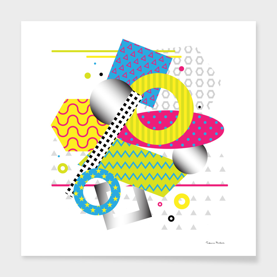 Bright vector geometrical abstraction.