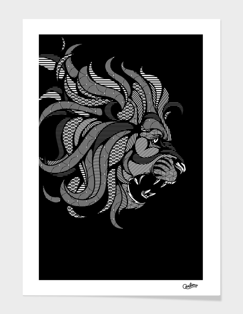 Lion Zentangle