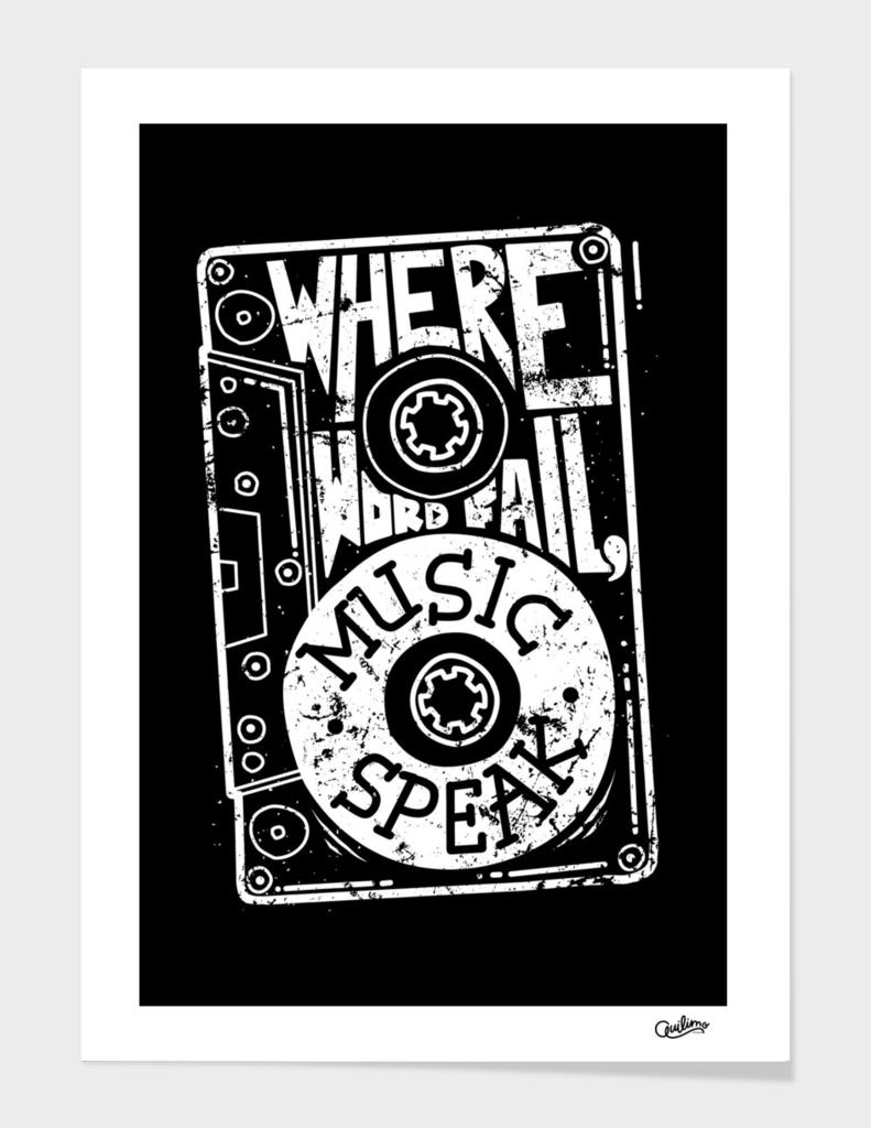 Where word fail, music speaks