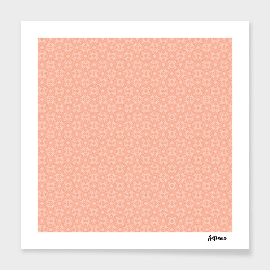 Sweet Peach Pink Flower Pattern
