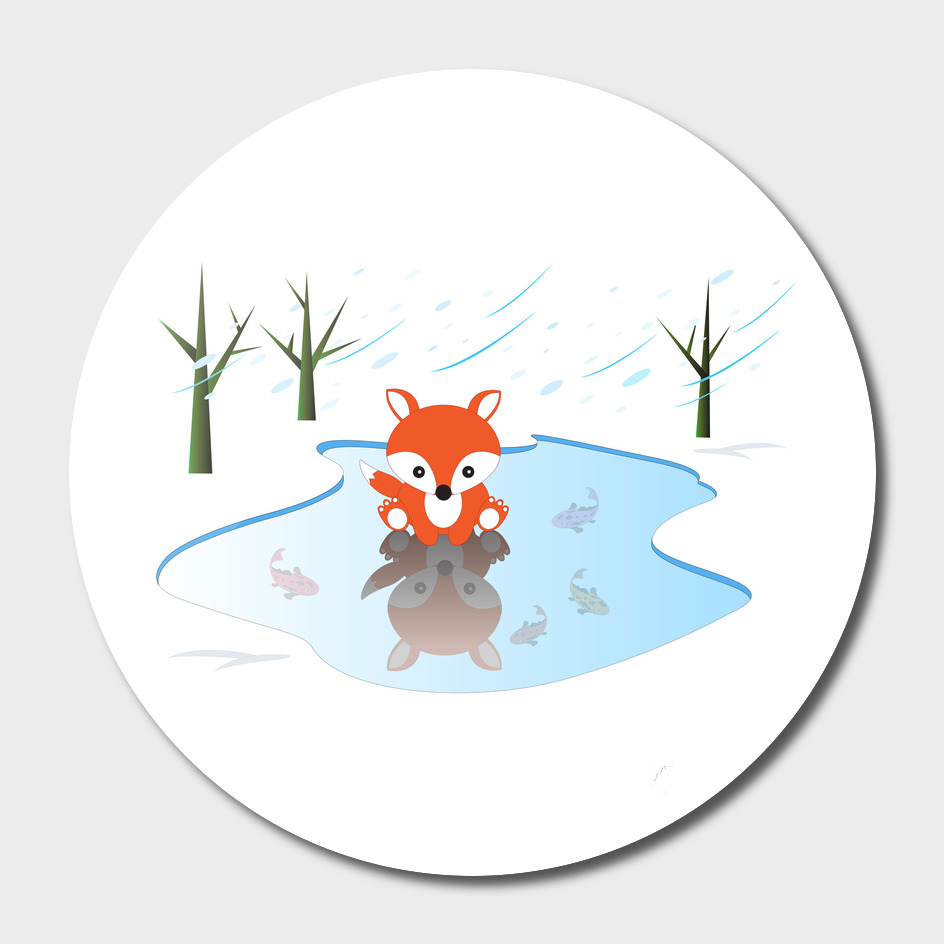 Little Fox On Ice