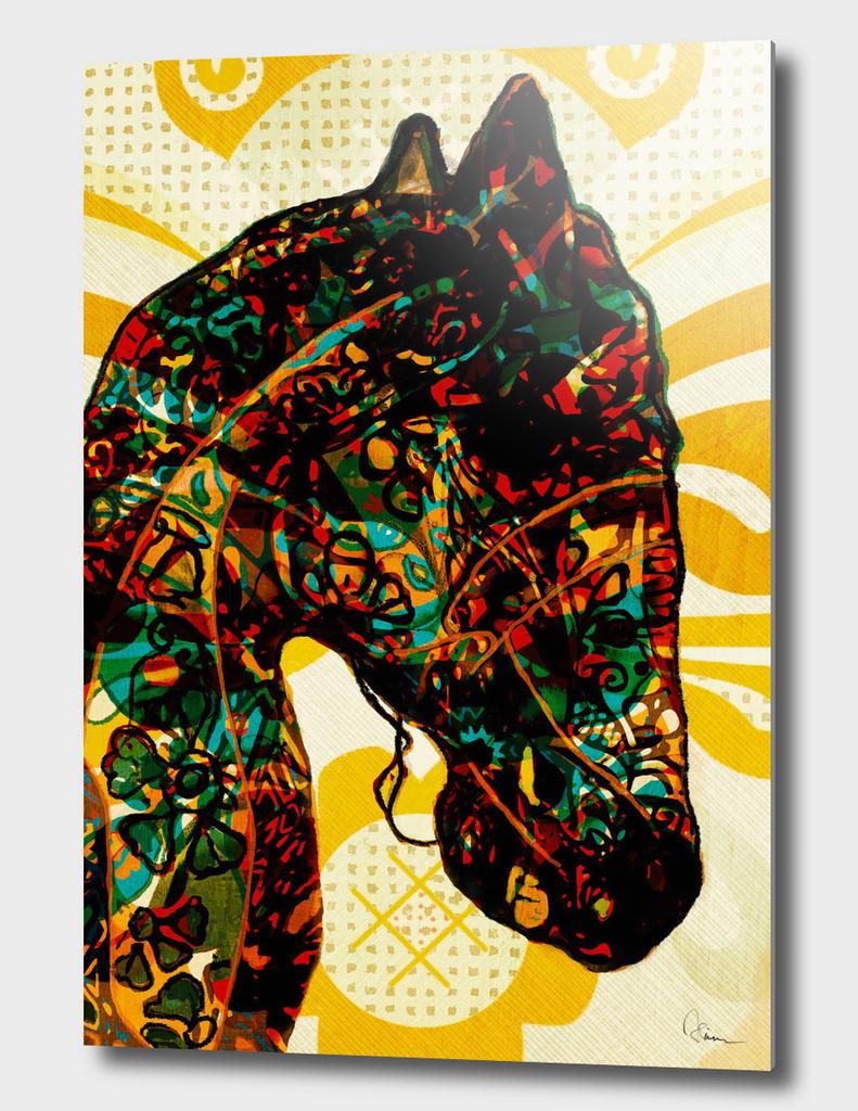 Dala horse à la graffiti