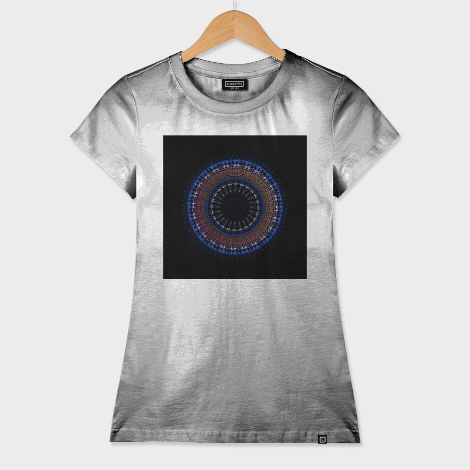 Futuristic Zen tangle Mandala art