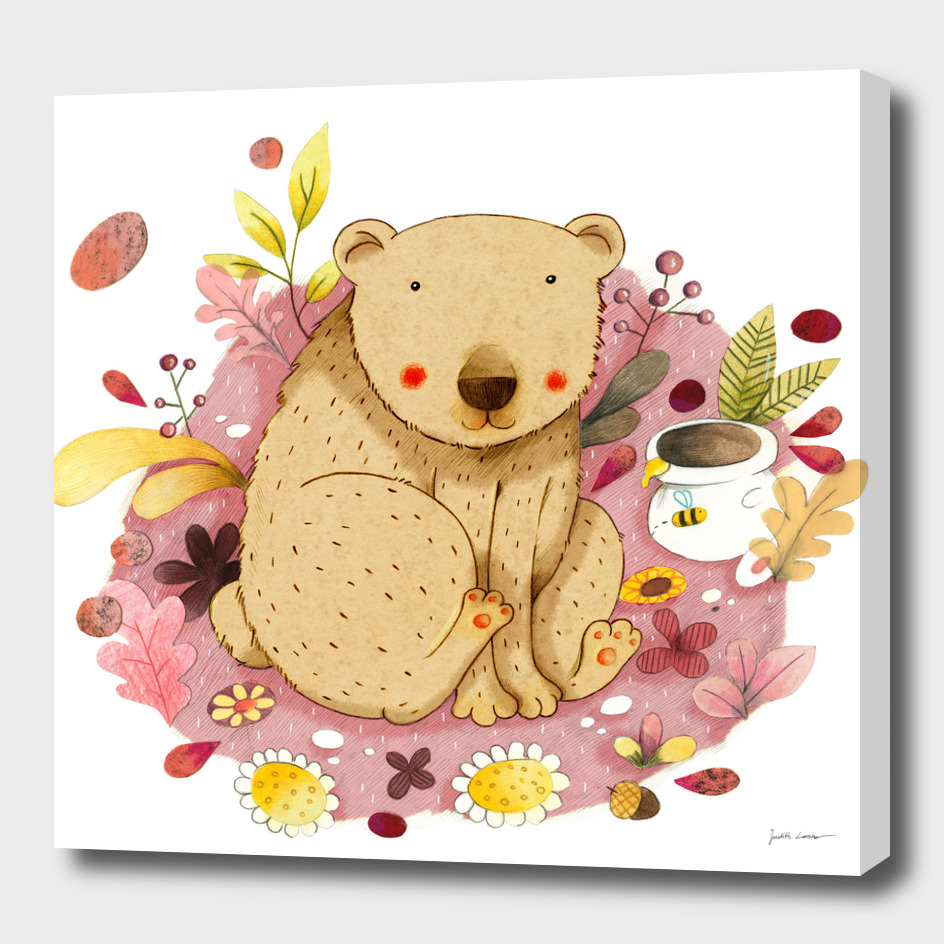 Bear with Honey-Pot