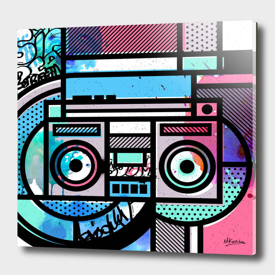 Orderly Vandalized: Boombox