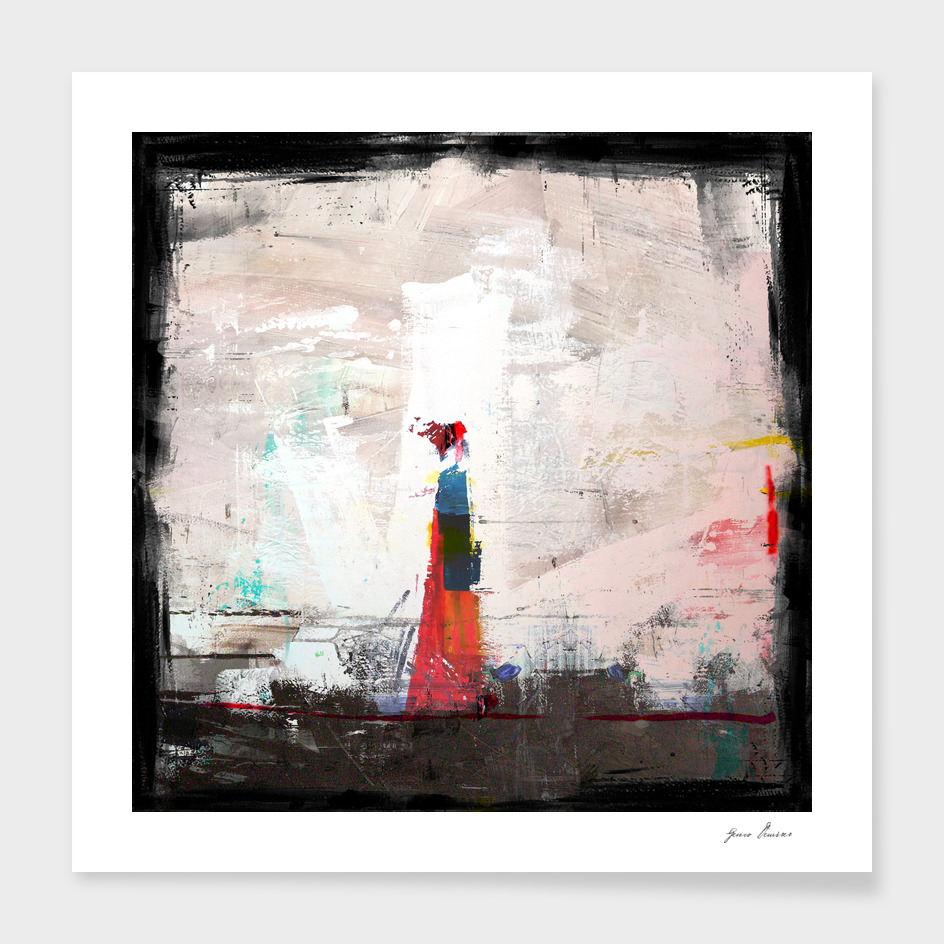 Lady in Red Kimono