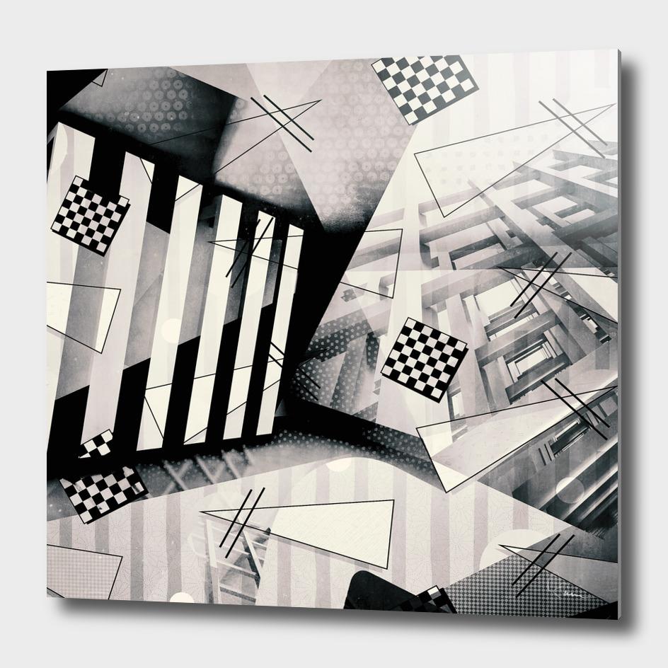 Miami Vice vs. Bauhaus No.3 in b/w